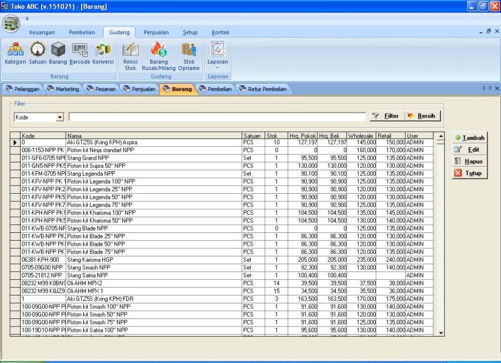 GRATIS Software Toko Portable (Beli Source Code=5; Klien=1) (2/3)