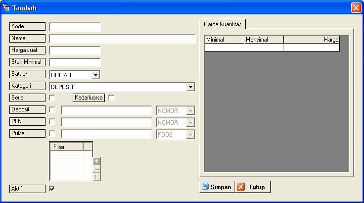 GRATIS Software Konter Pulsa (Beli Source Code=5; Agen=4; Klien=1) (4/6)