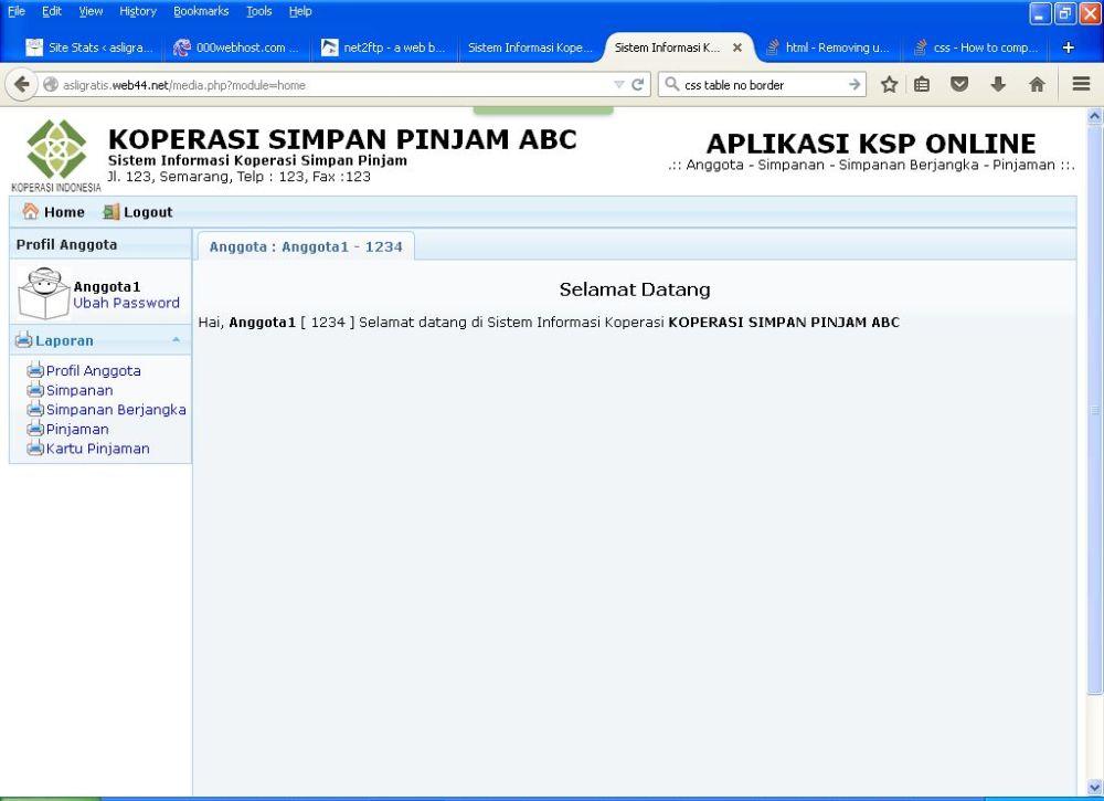 Gratis Aplikasi KSP Online Berbasis Web (2/6)