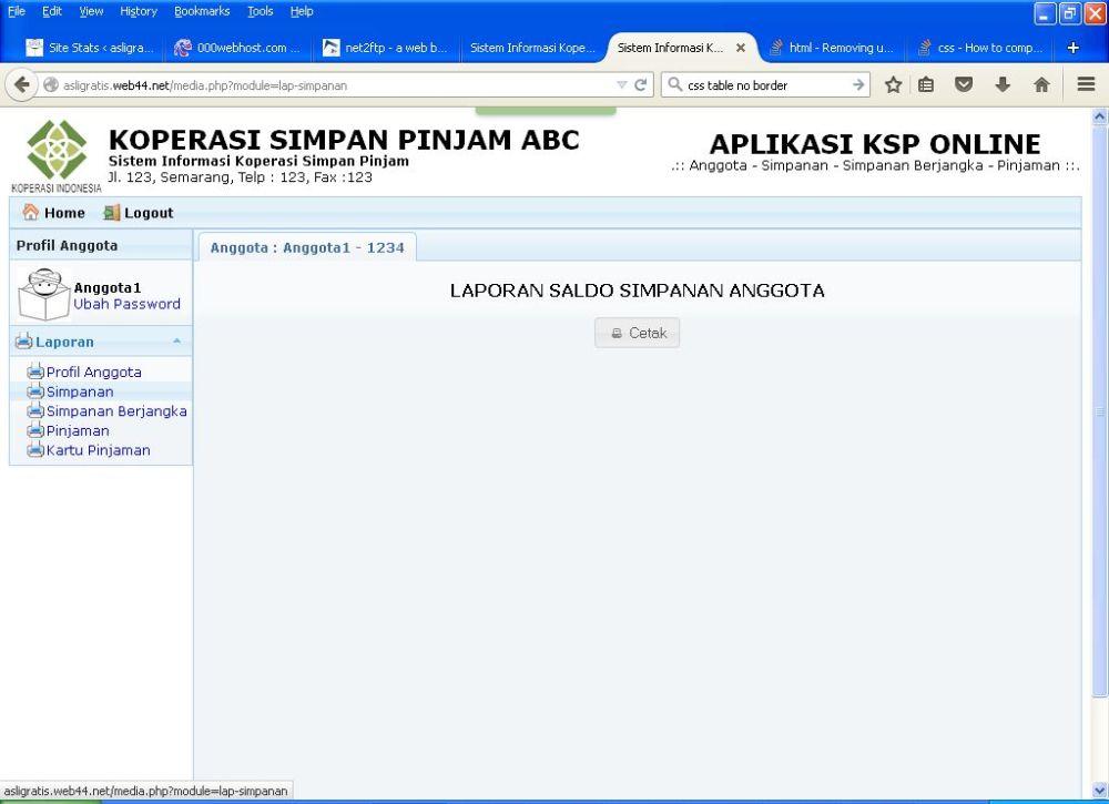 Gratis Aplikasi KSP Online Berbasis Web (3/6)
