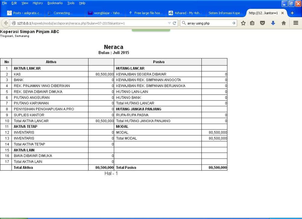 Segera Aplikasi Gratis KSP Online Berbasis Web v.2 (5/5)