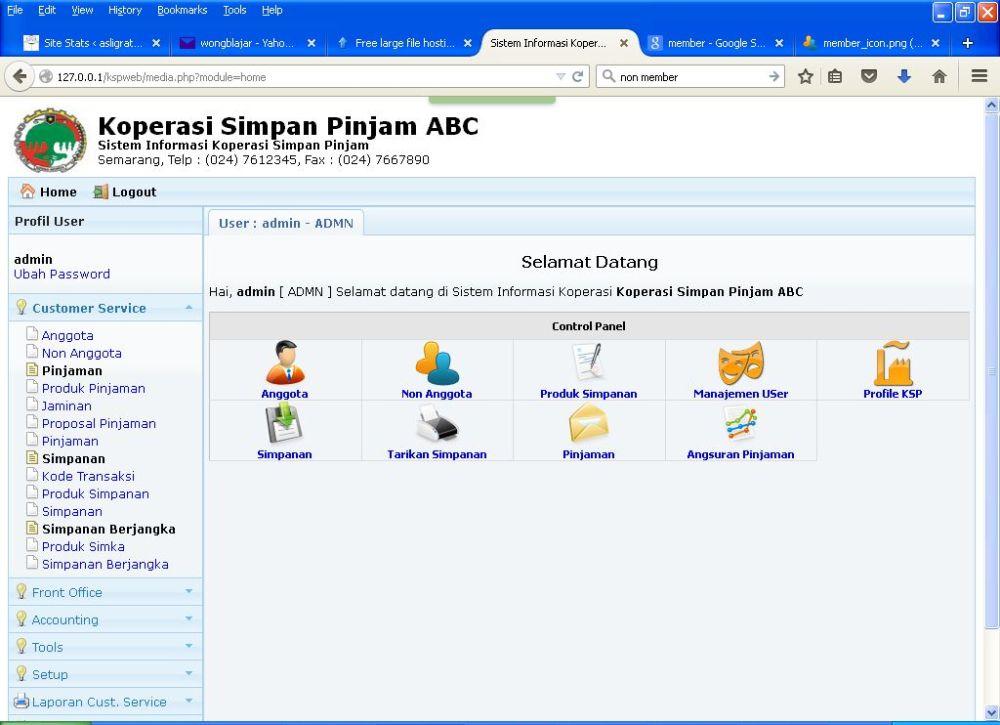 Segera Aplikasi Gratis KSP Online Berbasis Web v.2 (1/5)