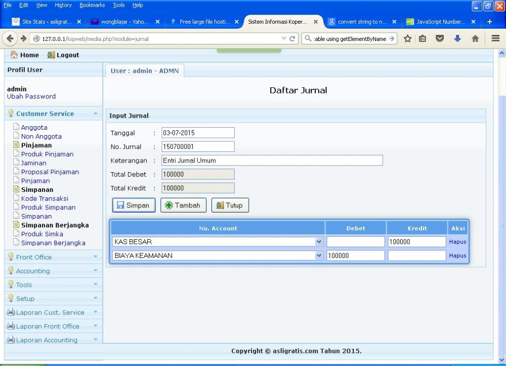 Segera Aplikasi Gratis KSP Online Berbasis Web v.2 (4/5)