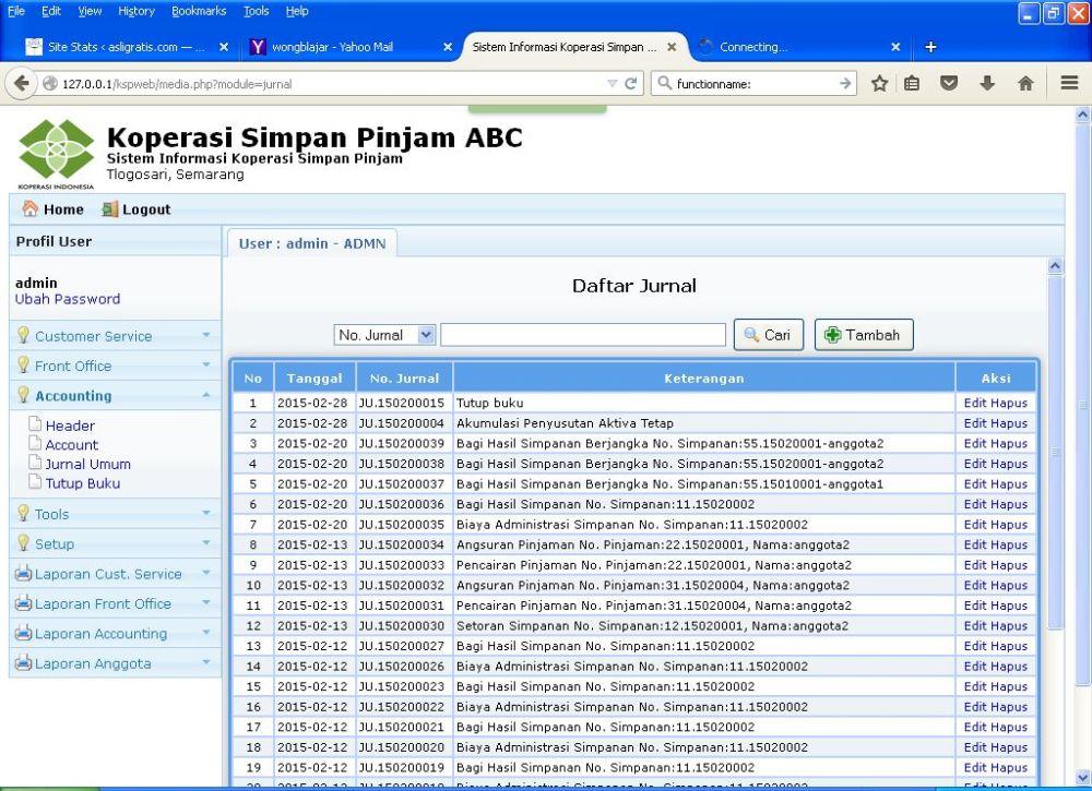 Segera Aplikasi Gratis KSP Online Berbasis Web v.2 (3/5)