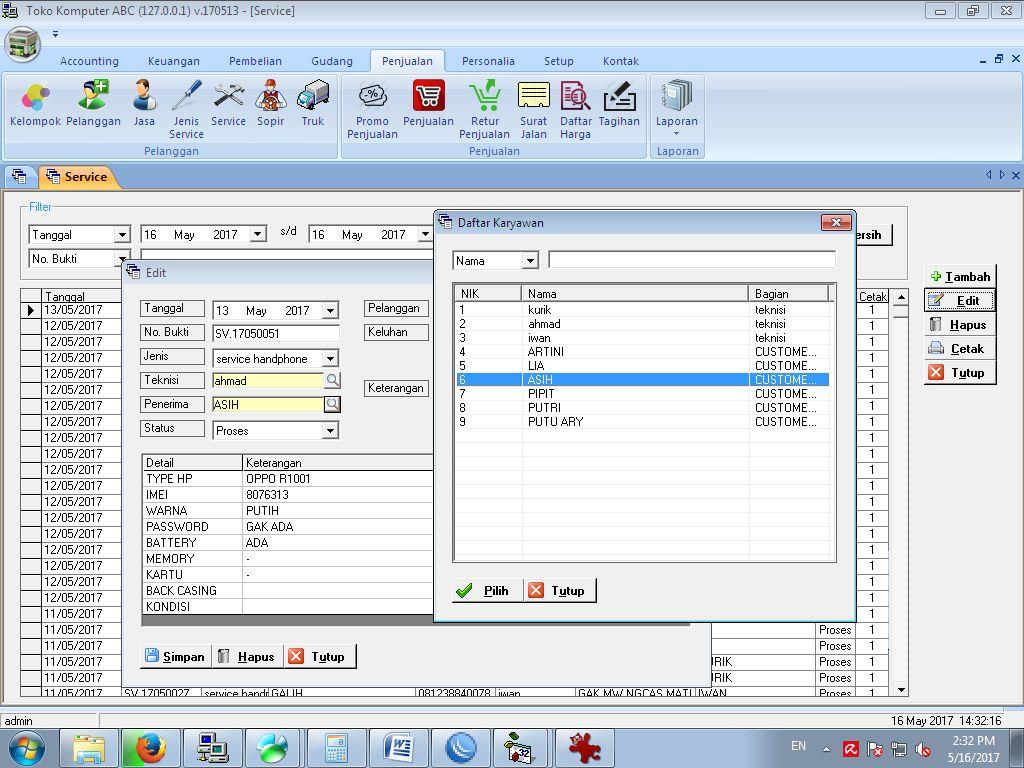 Tutorial Terima Service Pada Software Toko Komputer Gratis Pemograman Handphone Click Here To See A Large Version