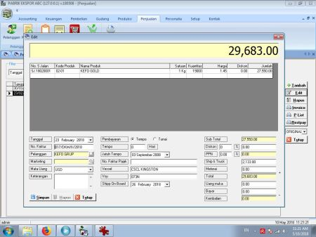 Jual Software Pabrik